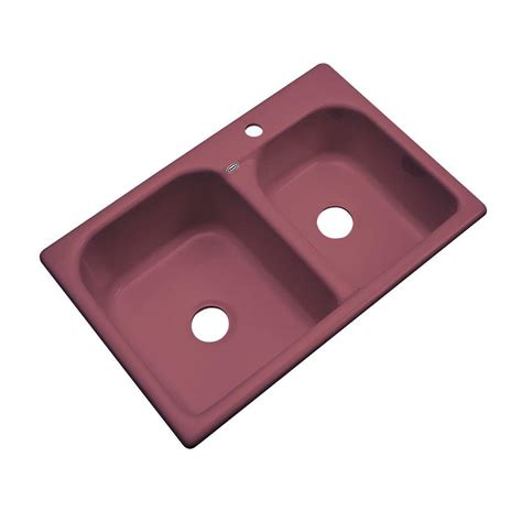 thermocast cambridge kitchen sinks thermocast cambridge drop in acrylic 33 in 1