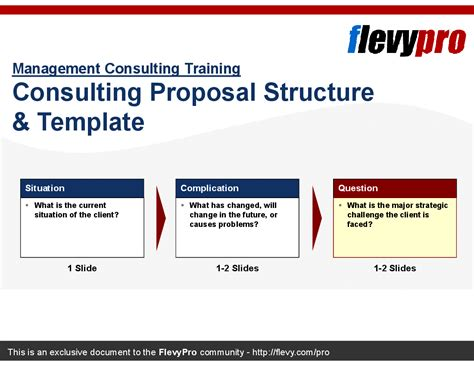 consulting proposal structure template powerpoint