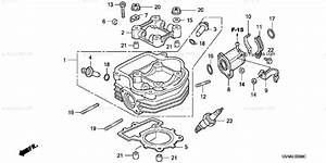 Honda Scooter 2003 Oem Parts Diagram For Cylinder Head