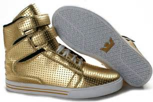 Supra TK Society High Mens Shoes - Gold/White - SUPRA ...