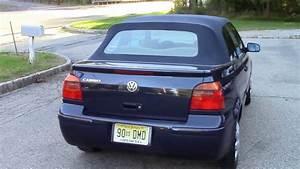 2001 Vw Cabrio Convertible Blue For Sale