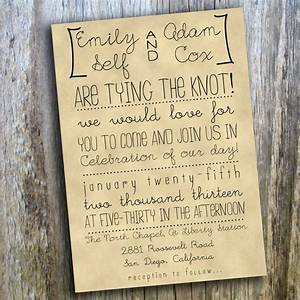 printable wedding invitation hand drawn rustic casual With diy wedding invitations by hand