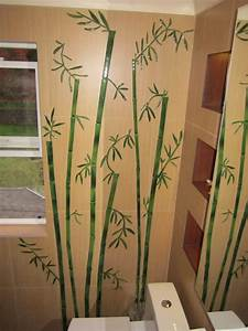 Home design ideas bamboo bathroom decor for Bamboo wall art