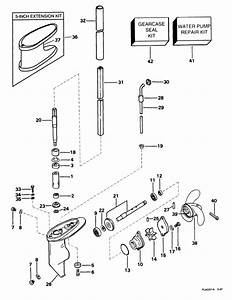 Johnson Gearcase Parts For 1999 3 3hp J3reec Outboard Motor