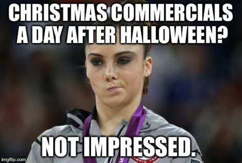 Mckayla Is Not Impressed Meme - halloween christmas meme