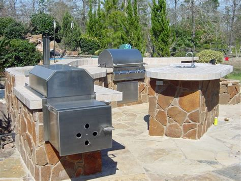 outdoor kitchen designs with smoker 5 outdoor living spaces with a texan touch 7238