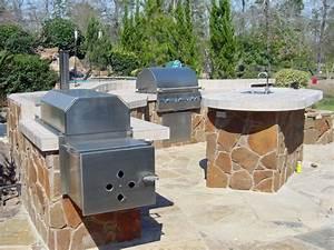 outdoor kitchen designs with smoker unusual thadudercom With outdoor kitchen designs with smoker