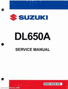 2012  U2013 2015 Suzuki Dl650a Motorcycle Service Manual