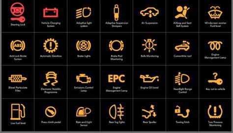 goesterge paneli araba ariza ikaz lambalari ve uyari isaretleri otomobil bilgi kaynagi