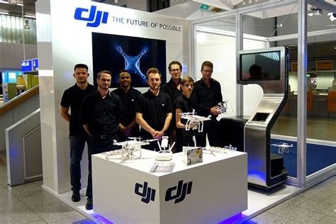dji airport booth  frankfurt international   fly