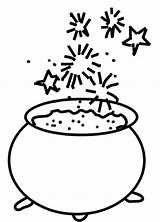 Cauldron Coloring Template Witch sketch template