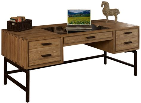 metal and wood desk with drawers furniture unfinished wood desk with partial glass top and