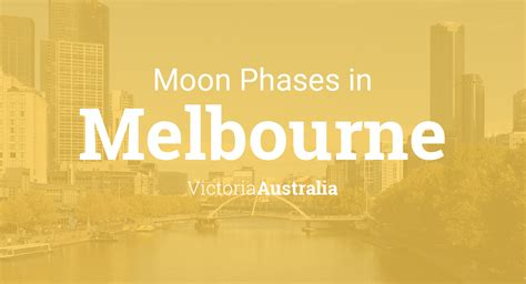 moon phases  lunar calendar  melbourne victoria