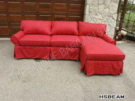 pottery barn loveseat slipcovers pottery barn pb basic modular sofa sectional