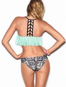 Ladder-back Flounce Bikini Top - PINK - Victoria's Secret ...