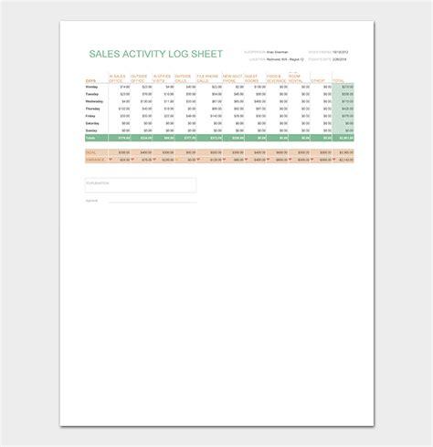 log sheet template  word excel  format