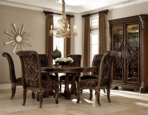 round formal dining table set a r t furniture gables round formal dining set