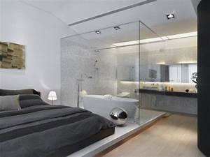 Bad Im Schlafzimmer : modern bathroom inside bedroom with glass wall bathrooms ~ A.2002-acura-tl-radio.info Haus und Dekorationen