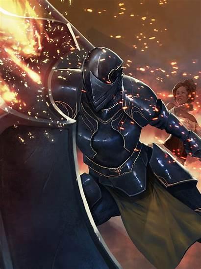 Knight Fantasy Anime Fire Comics Computer Costume
