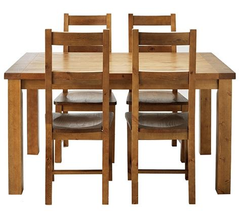 buy collection arizona dining table and 4 chairs solid