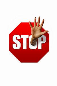 Stop Sign And Hand Stock Image  Image Of Advice  Caution