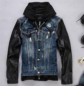 Double F Designer Belt Mens Denim Leather Jacket Nhnp0i Denim Jacket Fashion