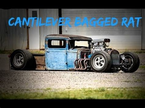 sick rat truck  cantilever air bag setup youtube