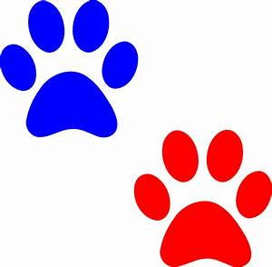Paw Logo Blue Red Clip Art at Clker.com - vector clip art ...