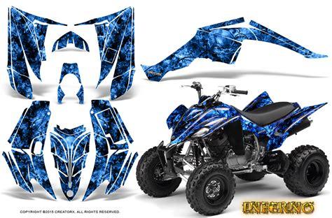yamaha raptor 350 graphics kit creatorx decals stickers inferno blue ebay