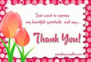 thank you card messages easyday