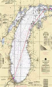 Map Chicago to Mackinac Race