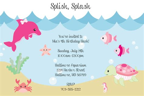 Green Punch For Baby Shower by Under The Sea Birthday Invitations Wording Drevio