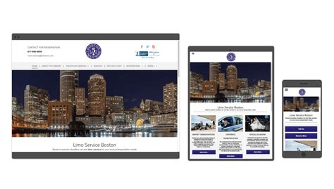 Limo Website by Responsive Web Design Limo Service And Small Business
