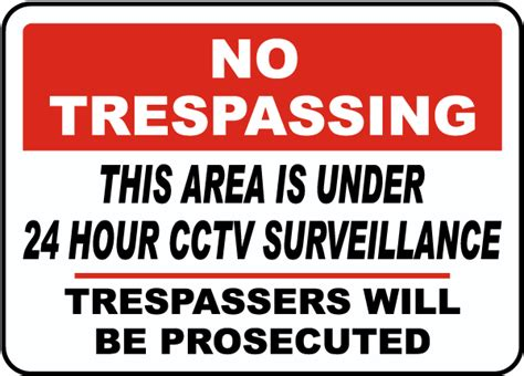24 Hour Cctv Surveillance Sign F7036