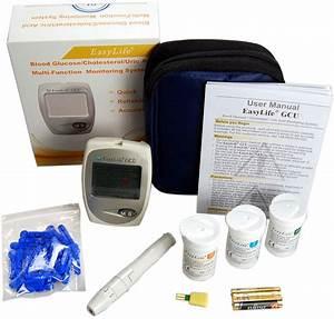 Blood Cholesterol Monitor Kit 3 In 1 Meter System