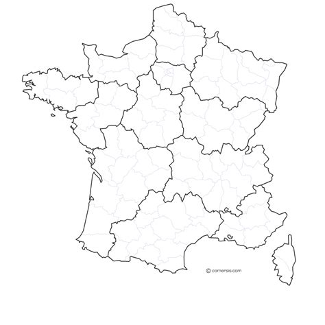 Carte De Et Region Et Departement by Carte Par Regions Et D 233 Partements