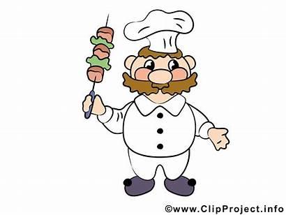 Koch Comic Clipart Cook Essen Cuoco Cartoon