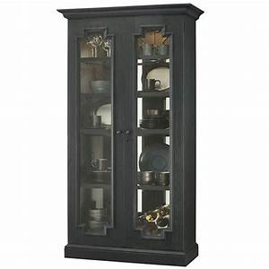 Curio with Aged Finish - Fireside Furniture