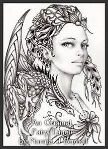 Zentangle Fairy Bing Images Tangled Girls Pinterest