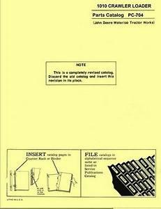 John Deere 1010 Crawler Loader Parts Manual 704