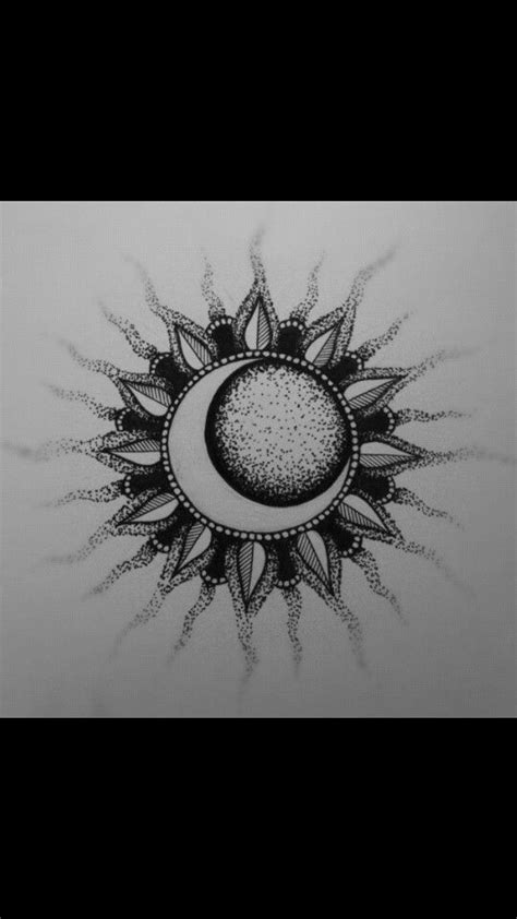 Sun and moon | coloring pages | Sun tattoos, Tattoos, Moon sun tattoo