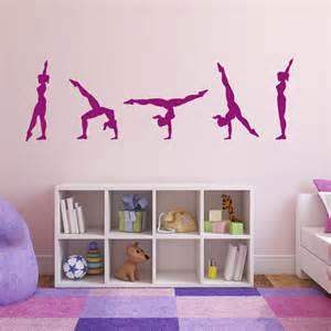 gymnast performing walk over wall sticker gymnastics With gymnastics wall decals