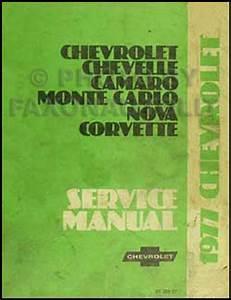 1977 Chevy Car Repair Shop Manual Original Camaro