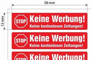 Briefkasten Keine Werbung : keine werbung aufkleber stop briefkastenwerbung ~ Orissabook.com Haus und Dekorationen