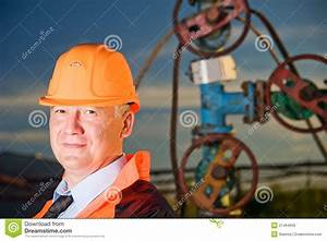 Engineer In An Oil Field Royalty Free Stock Photo - Image ...