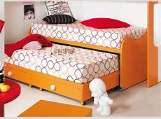 Nuvola Children's Bed With Pull Out Spare Bed Modern