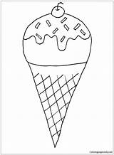 Snow Cone Pages Coloring sketch template