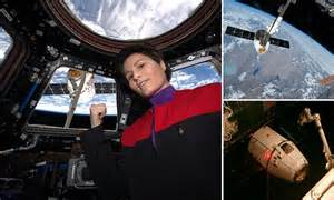 ISS astronaught Samantha Cristoforetti dons Star Trek ...