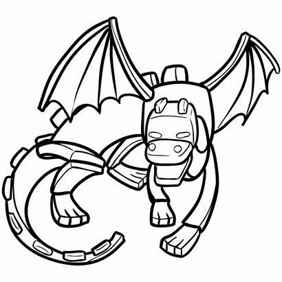 Dragon Ender Minecraft Draw Chibi Easy Step