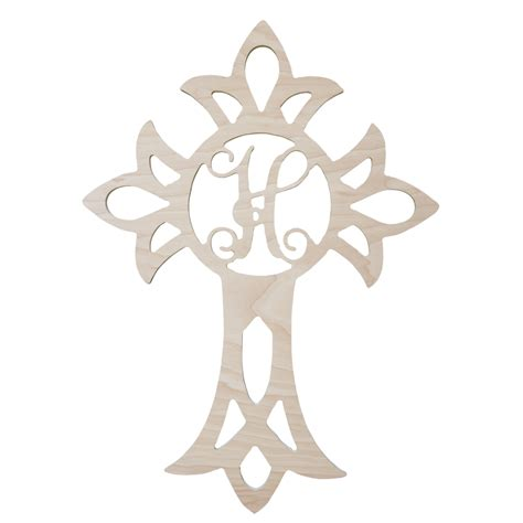 wooden monogram cross home decor letters
